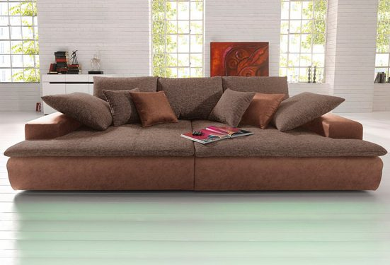 Nova Via Big-Sofa »Haiti«, wahlweise mit Kaltschaum (140kg Belastung/Sitz) und RGB-LED-Beleuchtung