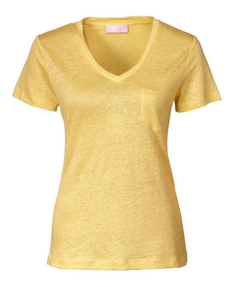 Brigitte von Schönfels V-Shirt in Gelb