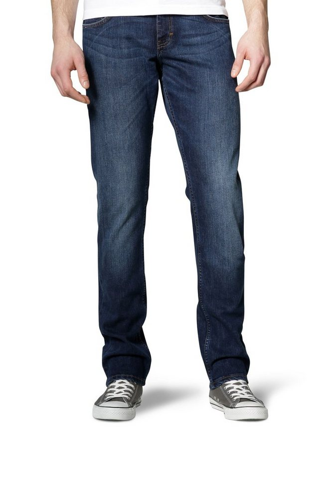 MUSTANG Stretchjeans »Chicago Tapered« in dark scratched used