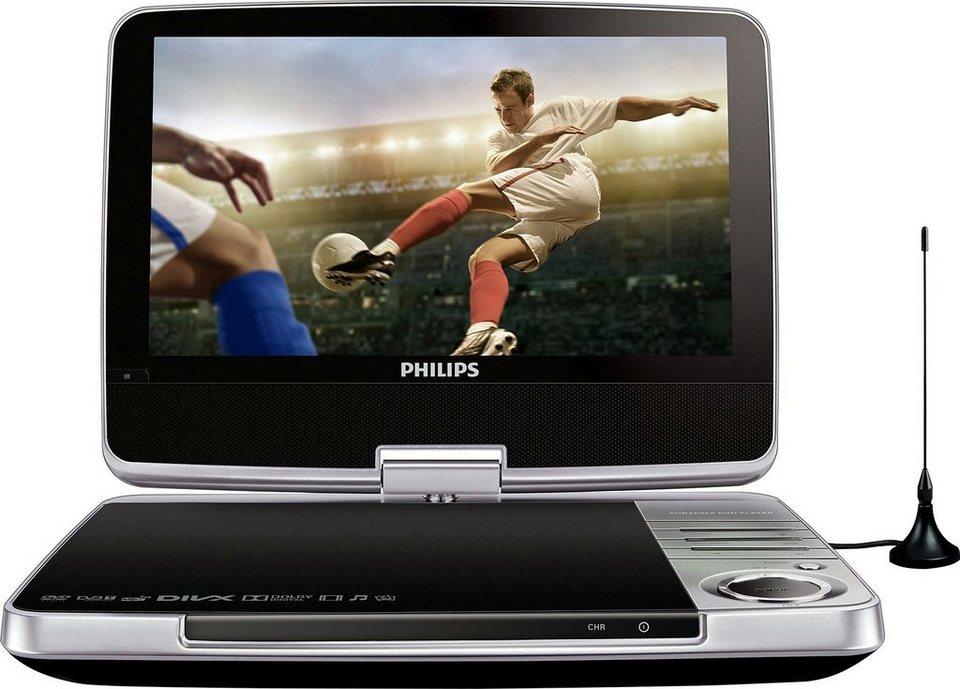 Philips PD9025 tragbarer DVD-Player & Fernseher, DVB-T in silberfarben/schwarz