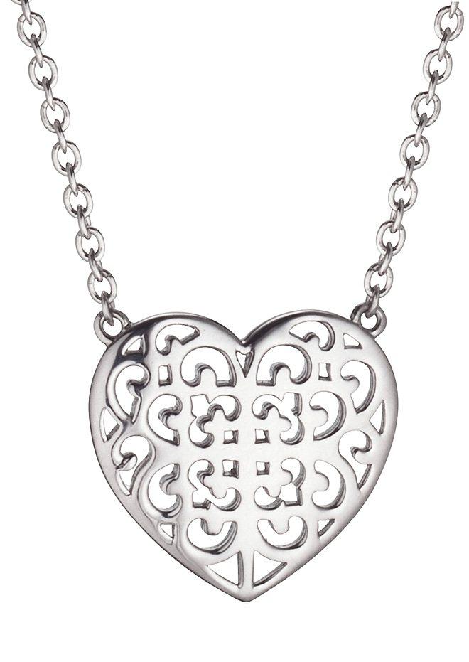Kette, »Ornament Herz, ERN-ORNAHEART«, Engelsrufer in Silber 925