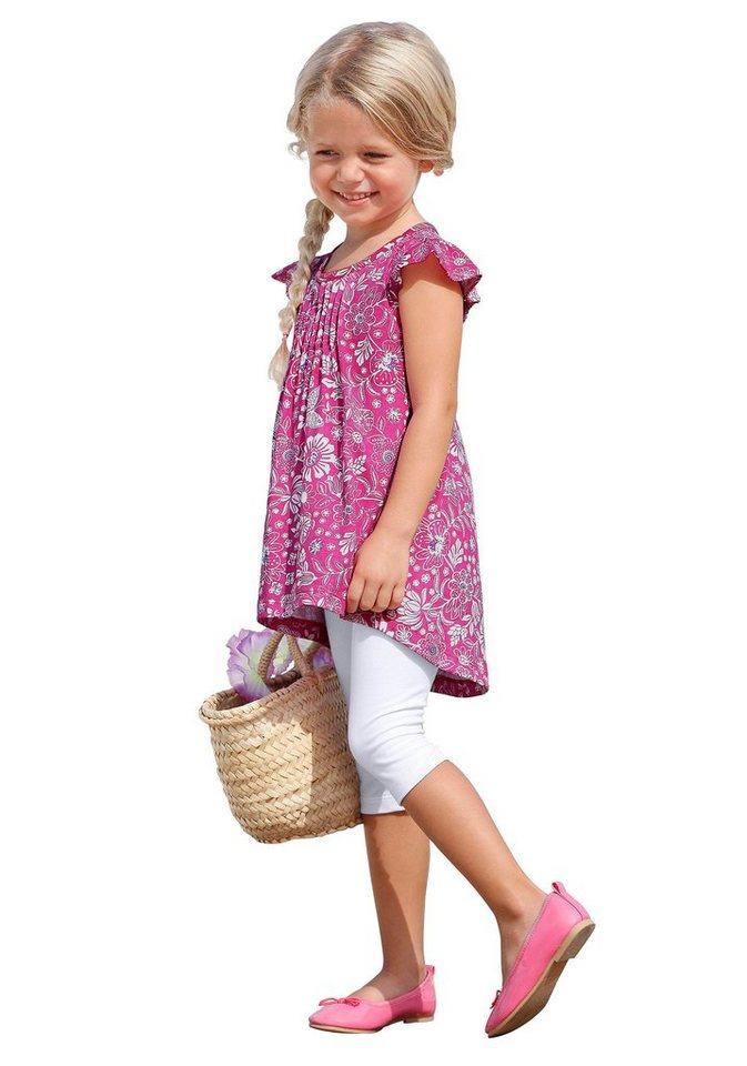 CFL Longshirt & Leggings mit Blumen-Muster (Set, 2-tlg.), für Mädchen in Bedruckt-Weiß