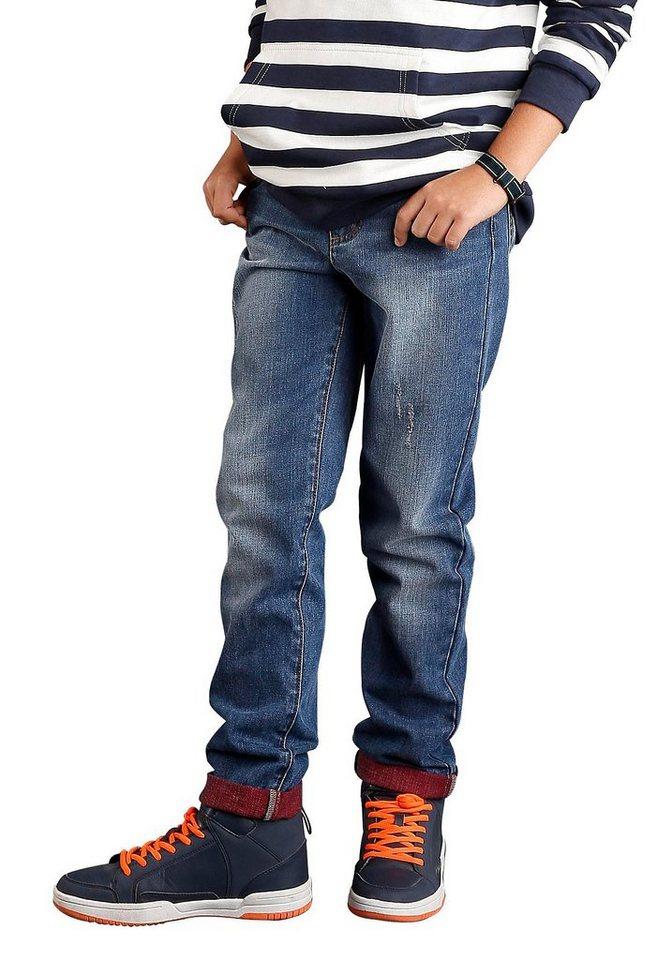 Arizona Jeans mit farbigem Umschlag, Regular fit, für Jungen in blue used