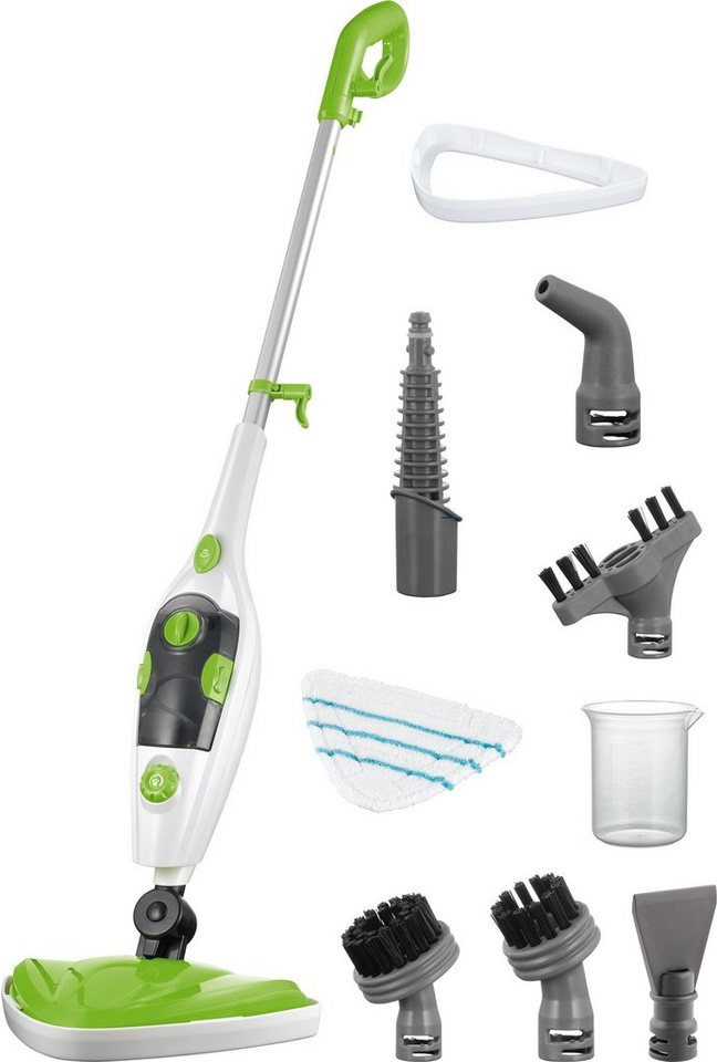 cleanmaxx Dampfbesen 3in1 in limegreen/white