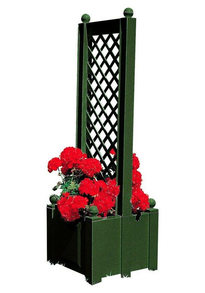 Spalier »mit beidseitigem Pflanzkasten, 43 cm« in grün