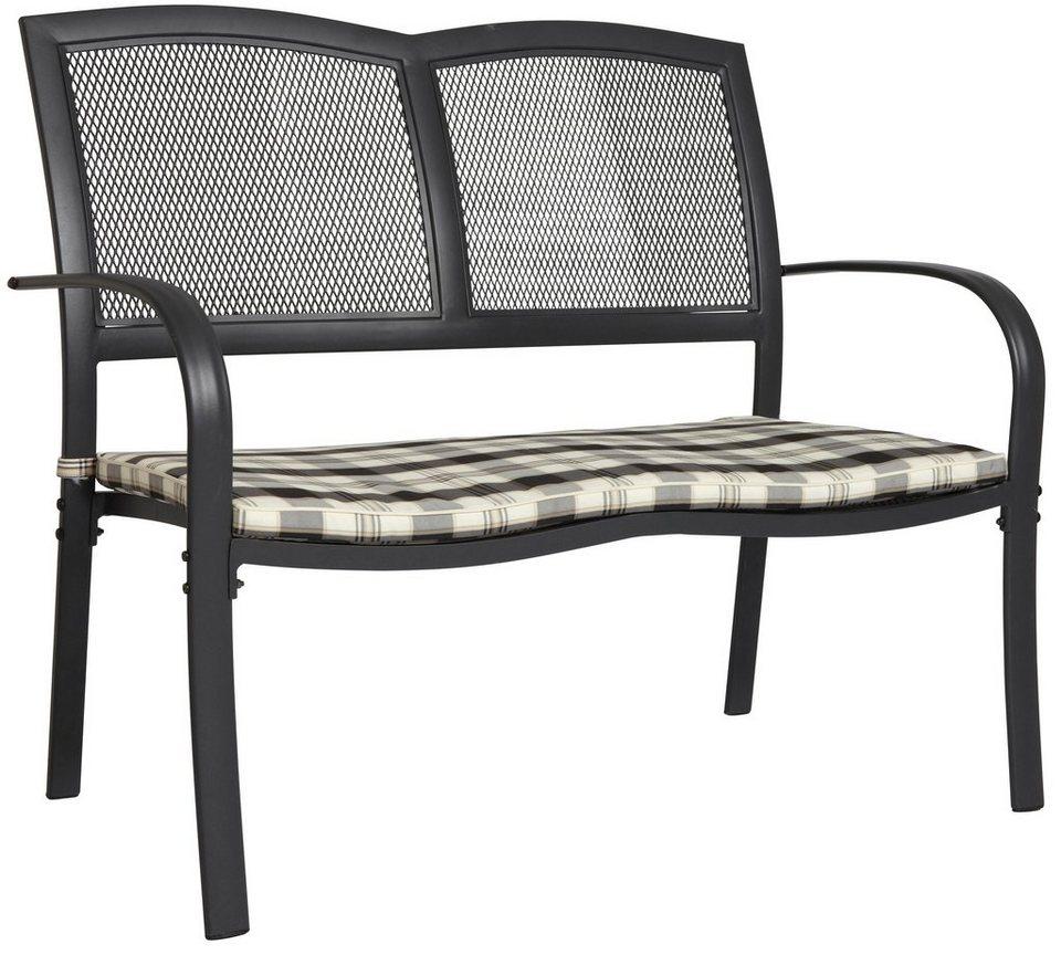 MERXX Gartenbank »Montreal«, Aluminium, 113x66x93 cm, schwarz, inkl ...