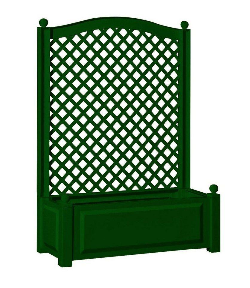Spalier »mit Pflanzkasten 100cm, grün« in grün