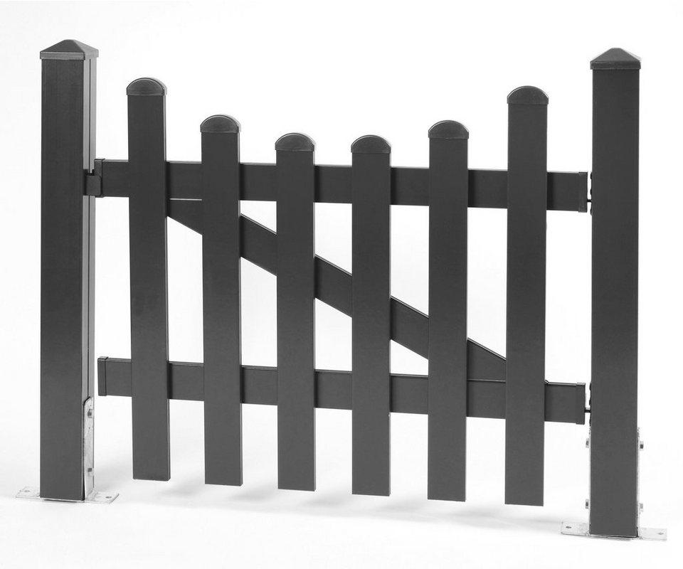 Zaun-Einzeltür mit Unterbogen »114 x 80 cm anthrazit«