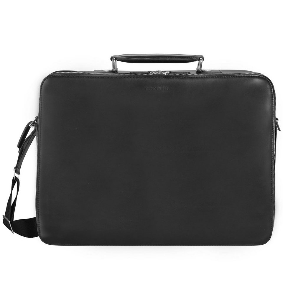 Braun Büffel Oxford Businesstasche L Leder 42 cm Laptopfach in schwarz