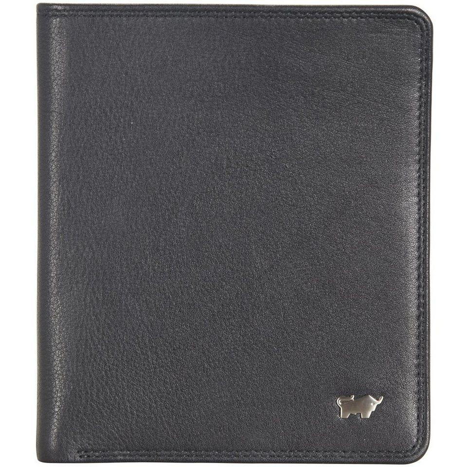 Braun Büffel Golf Geldbörse Leder 11,5 cm in schwarz
