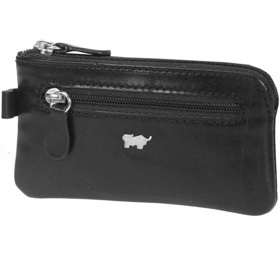 Braun Büffel Basic Schlüsseletui Leder 12 cm in nachtschwarz