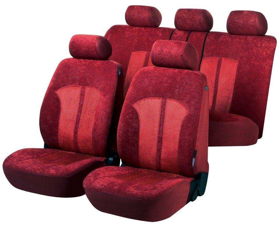 Set: Autositzbezug »Velvet (8-tlg.)« in rot