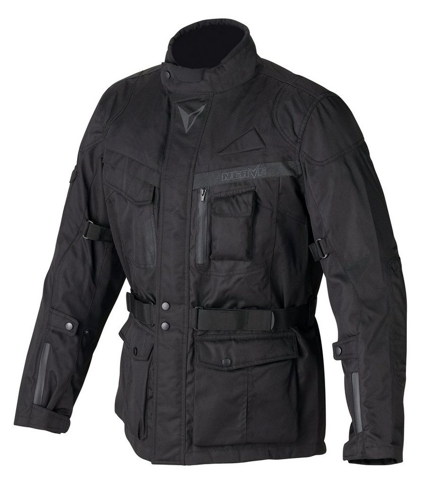 Herrenmotorradjacke »Long Rider« in schwarz