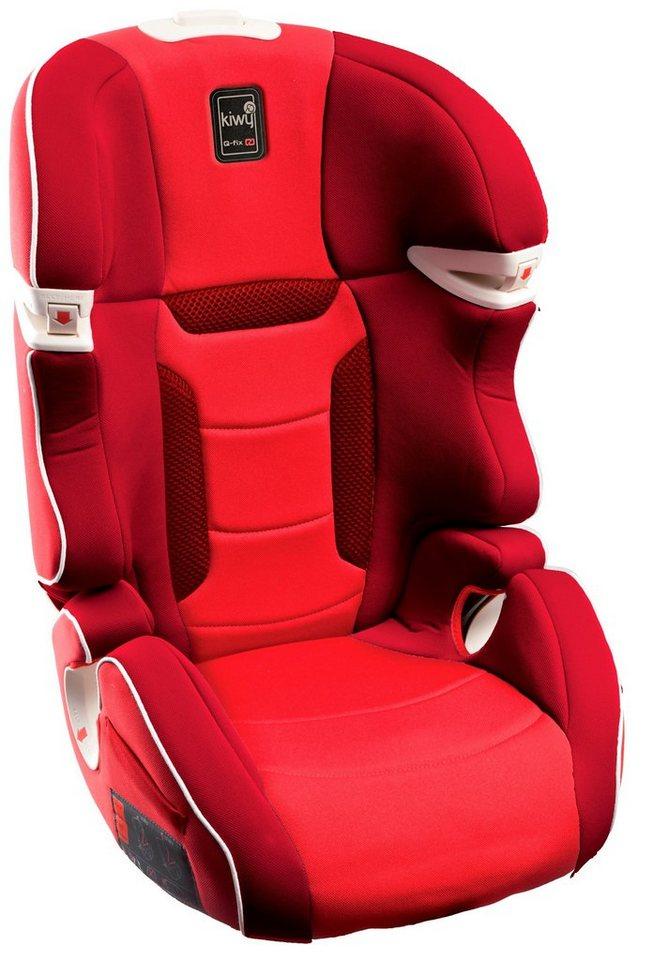 Kiwy Kindersitz »kiwy SLF23 mit Q-Fix Adapter für Isofix Haltepunkte im Auto, cherry« in rot