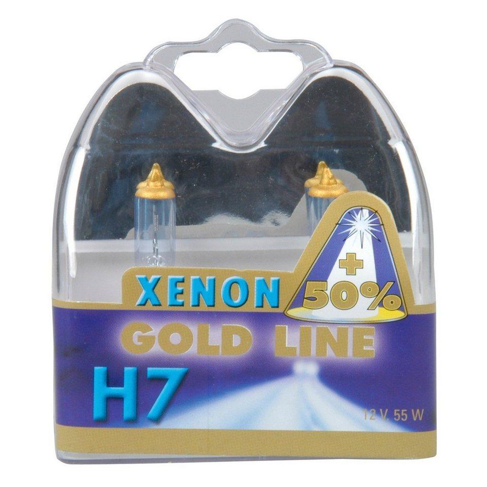 Set: Halogenlampen »H7 Xenon Gold, 12V, 55W« in weiß