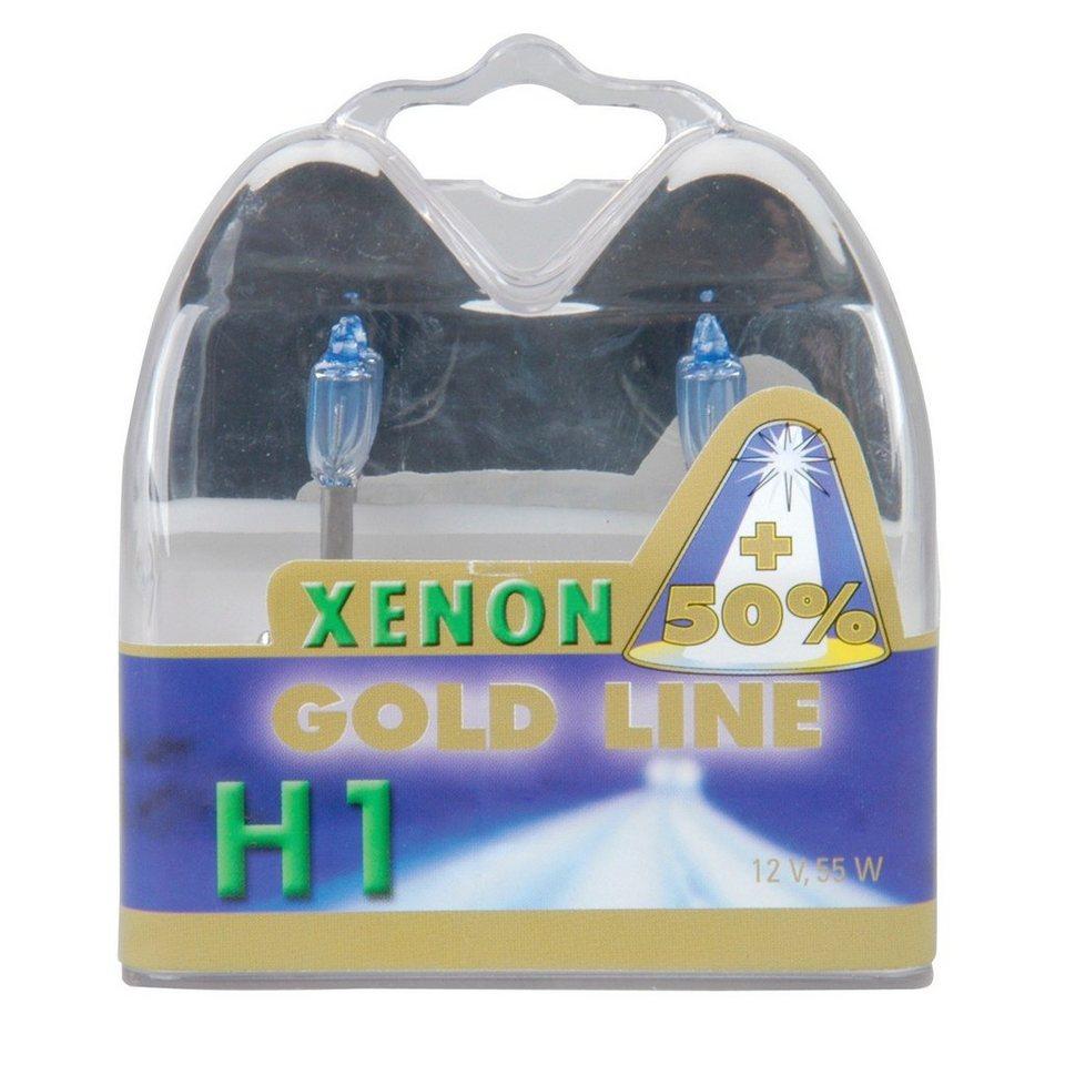 Halogenlampen »H1 Xenon Gold, 12V, 55W« in weiß