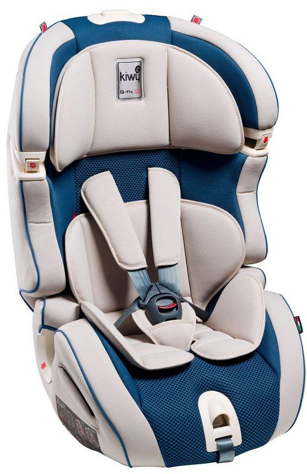 Kiwy Kindersitz »kiwy SLF123 mit Q-Fix Adapter für Isofix Haltepunkt im Auto, ocean« in blau