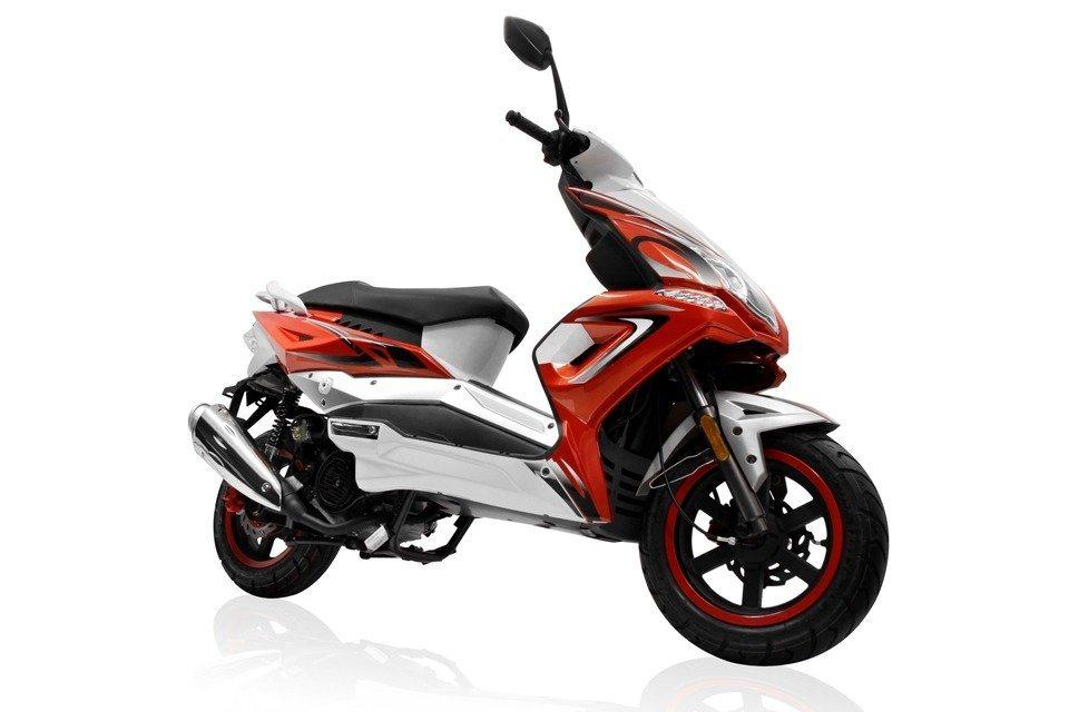 Motorroller »Veloce«, 50 ccm, 45 km/h in rot