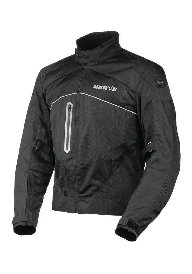 Nerve Herrenmotorradjacke »Run Boy« in schwarz