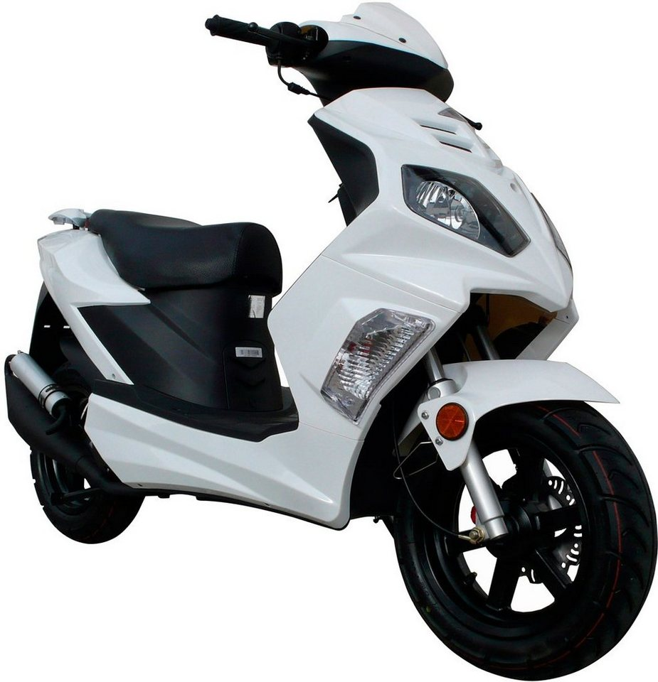 Motorroller »Tempesta«, 50 ccm, 45 km/h in weiß