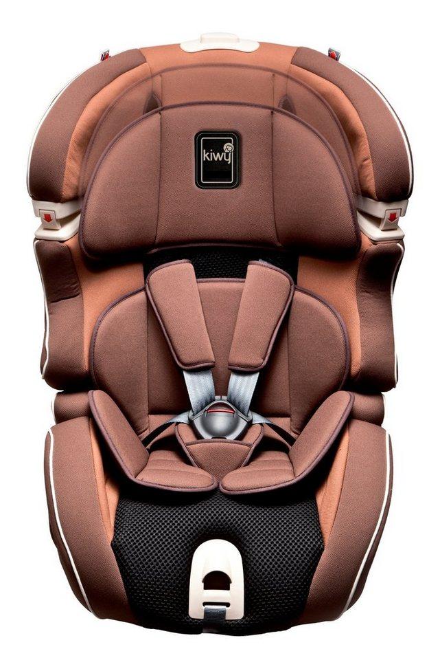 Kiwy Kindersitz »kiwy SLF123 mit Q-Fix Adapter für Isofix Haltepunkt im Auto, mokka« in braun
