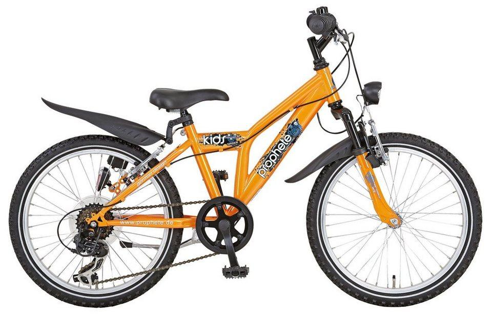 Kinderfahrrad Jungen »EINSTEIGER 1.2«, 20 Zoll, 6 Gang, V-Bremsen in orange