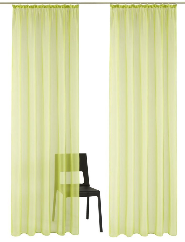 Gardine, my home, »Pebel« (2 Stück) in grün
