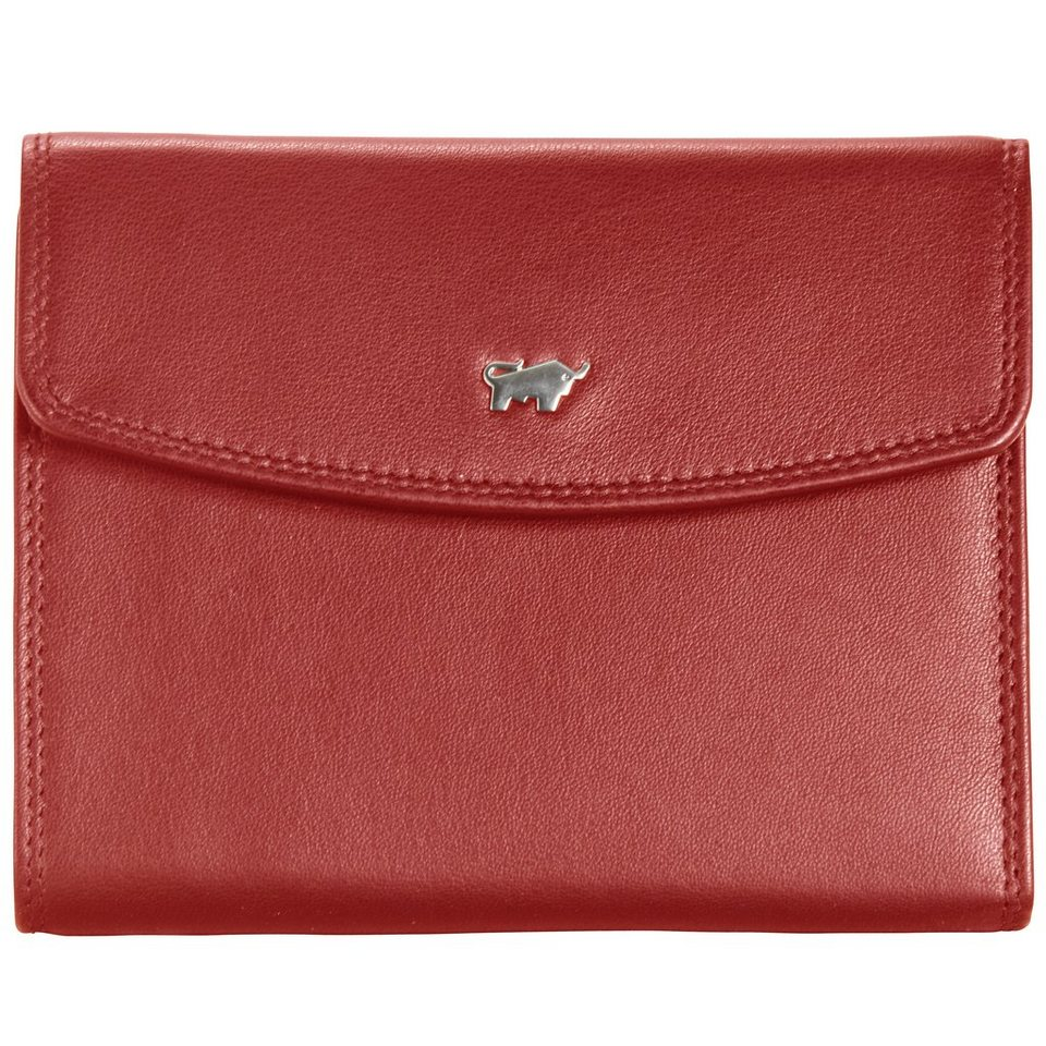 Braun Büffel Golf Geldbörse Leder 10,5 cm in rot