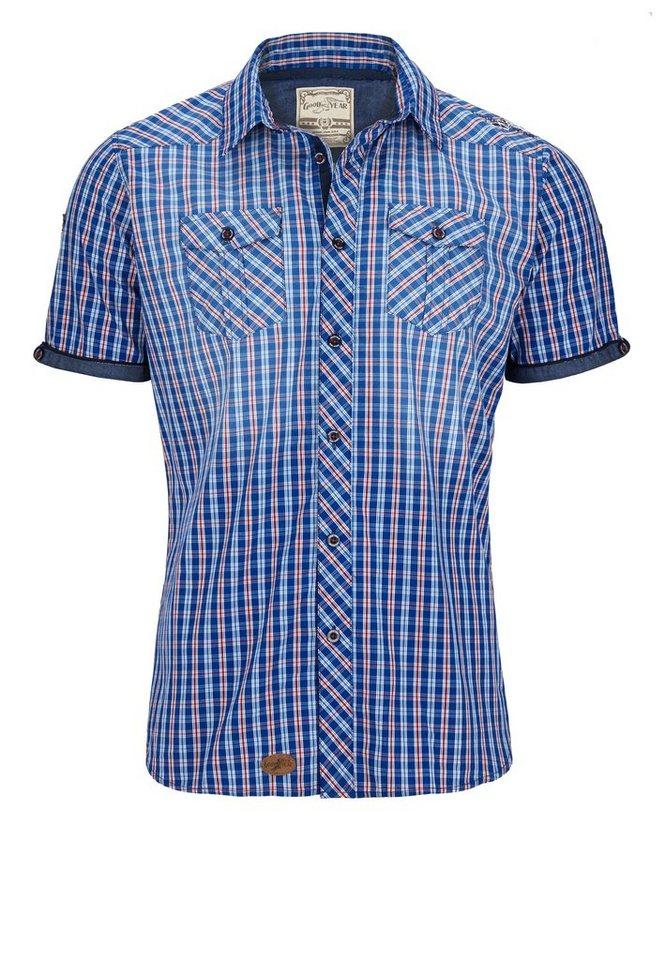 Goodyear Hemd »NORWALK« in Blue/White Check
