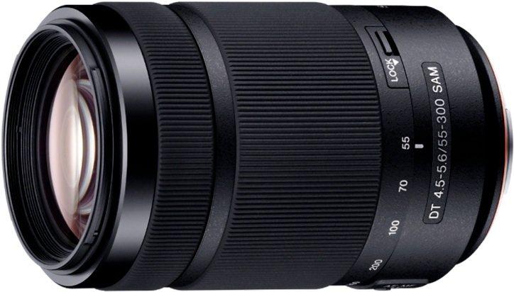 Sony SAL-55300, DT 55-300 mm F4,5–5,6 SAM Telezoom Objektiv in schwarz