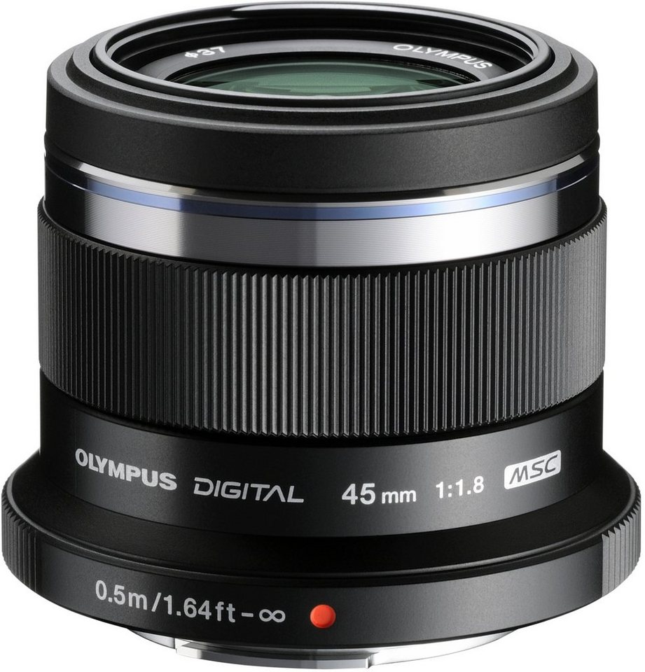 Olympus M.ZUIKO DIGITAL 45mm 1:1.8 Festbrennweite Objektiv in schwarz