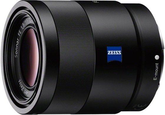 Sony SEL-55F18Z Sonnar® T* FE 55 mm F1,8 ZA Festbrennweite Objektiv in schwarz
