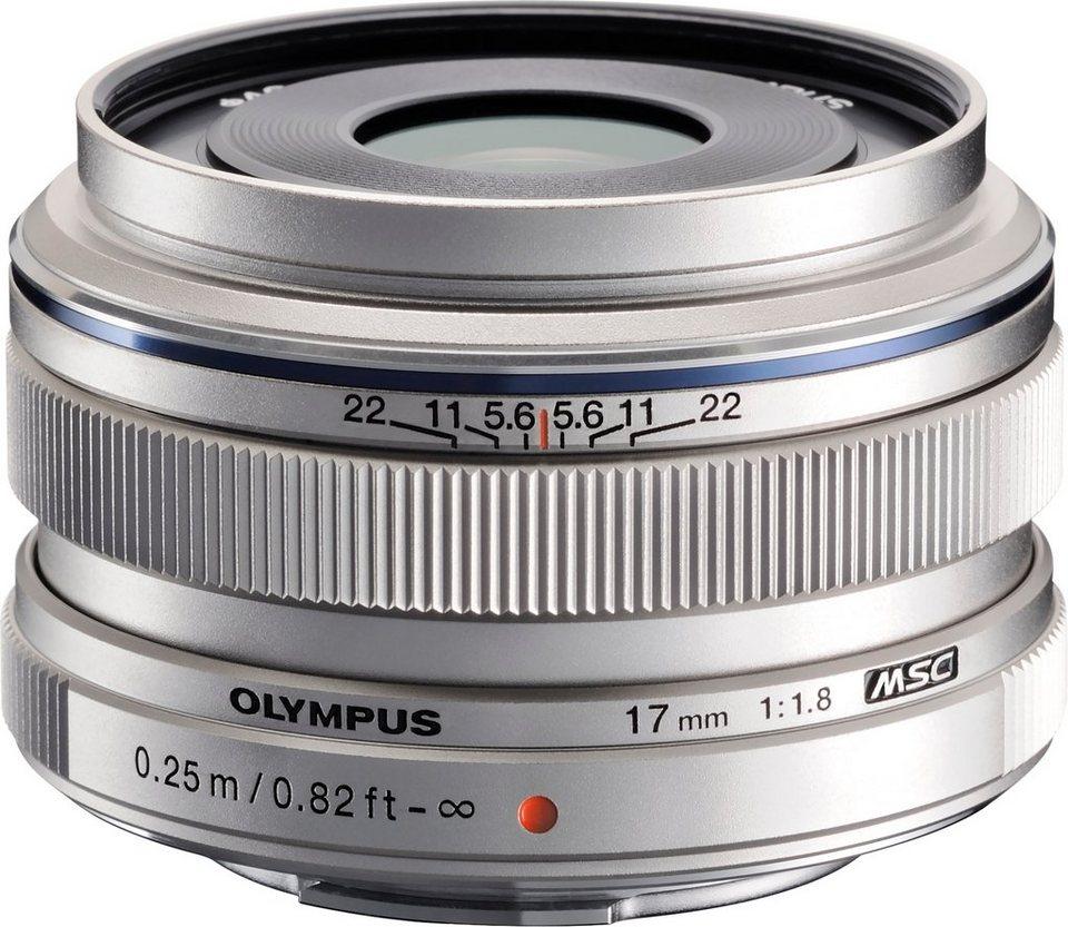 Olympus M.ZUIKO DIGITAL 17mm 1:1.8 Weitwinkel Objektiv in silberfarben