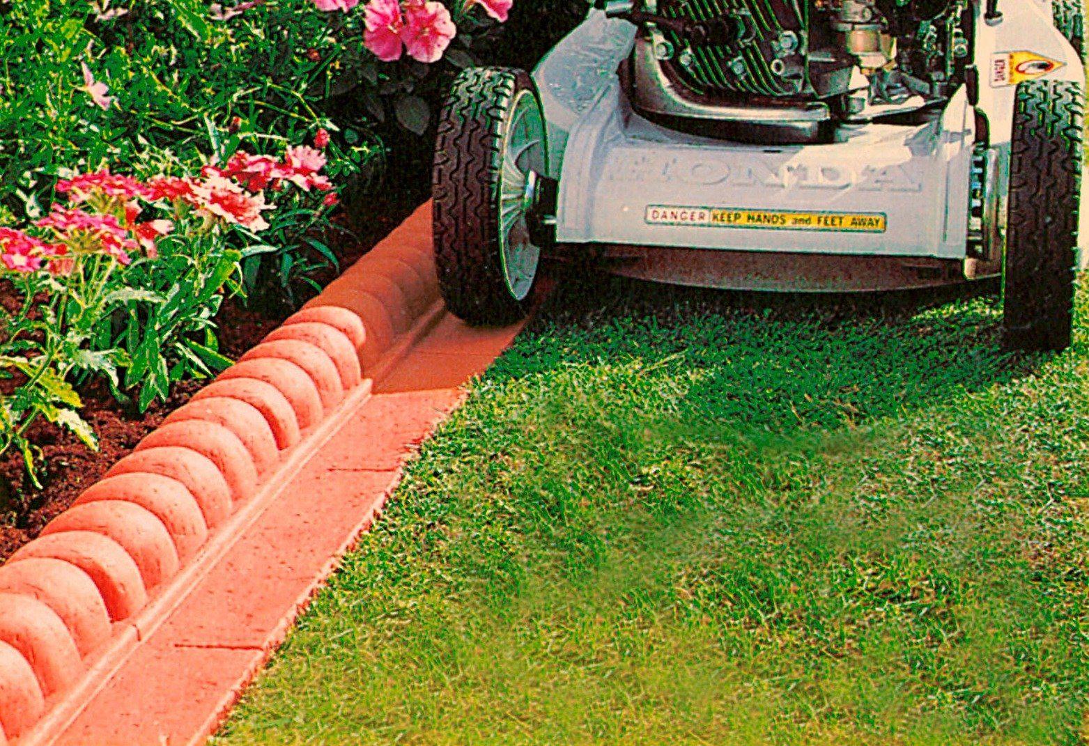 Kunststoff-Rasenkante »Außenecke Terracotta«