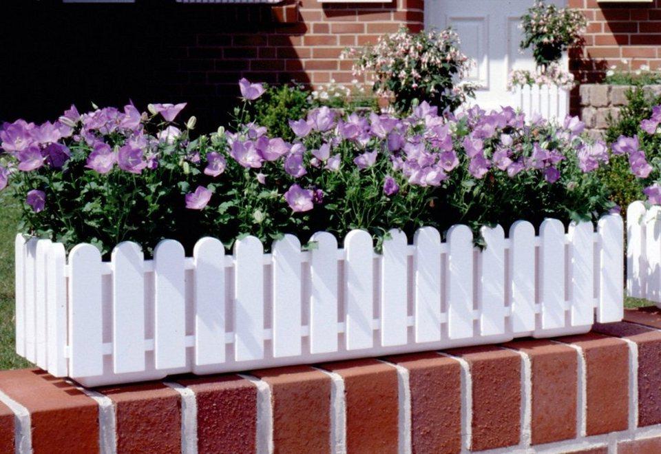 Blumenkasten »LANDHAUS«, weiß (100 cm) in weiß