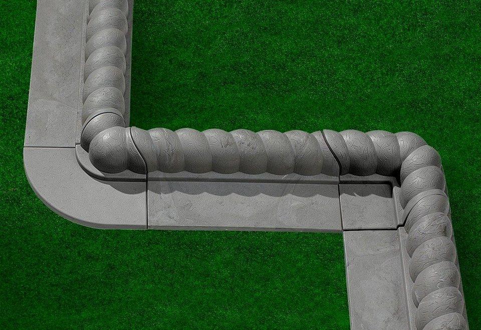 Kunststoff-Rasenkante »Innenecke Stein« in grau