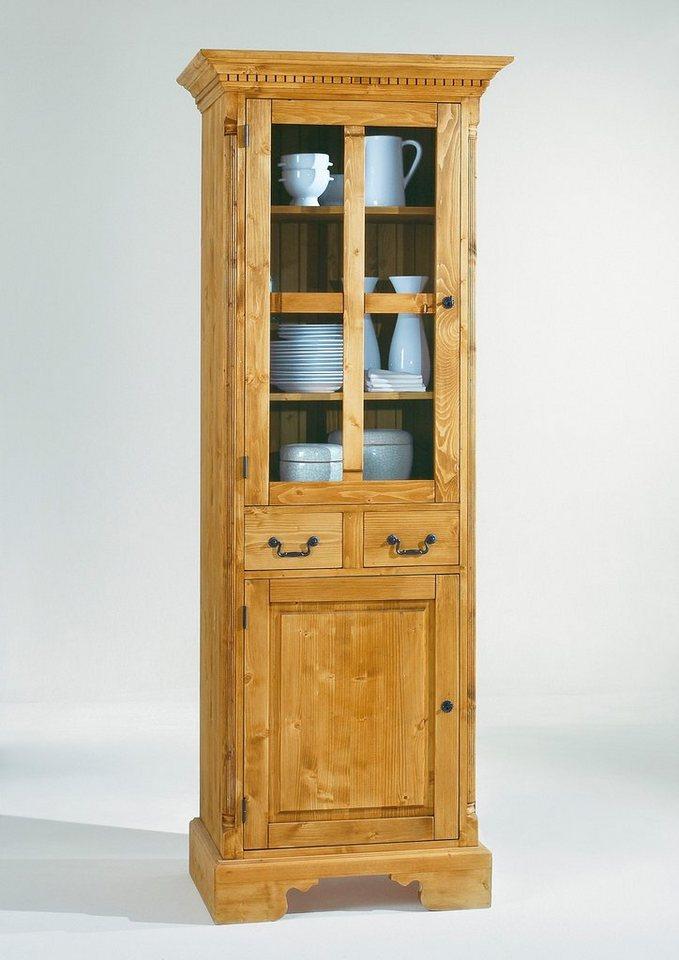 Favorit Vitrine »Oxford«, Höhe 213 cm in honigfarben