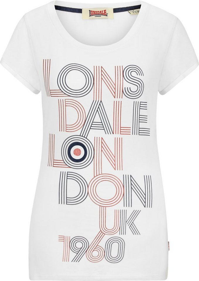 Lonsdale T-Shirt »ILCHESTER« in White
