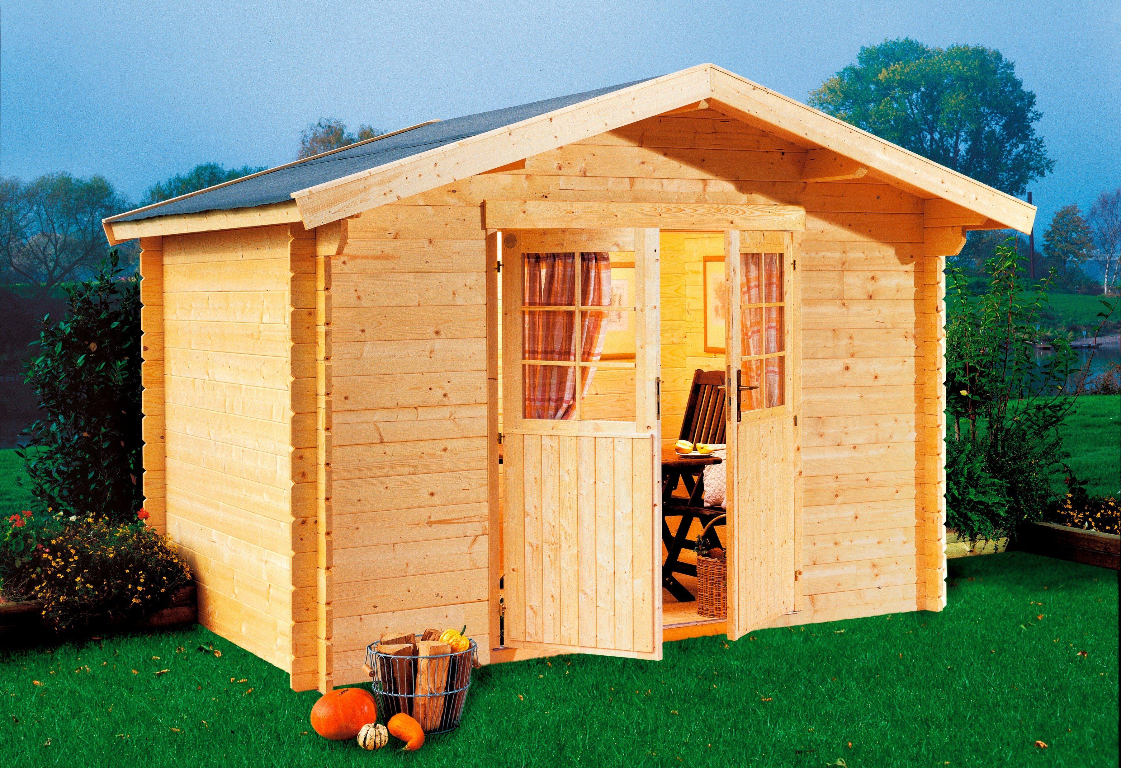 LUOMAN Gartenhaus »Lillevilla 332«, BxT: 240x240 cm, 19 mm, inkl. Aufbau