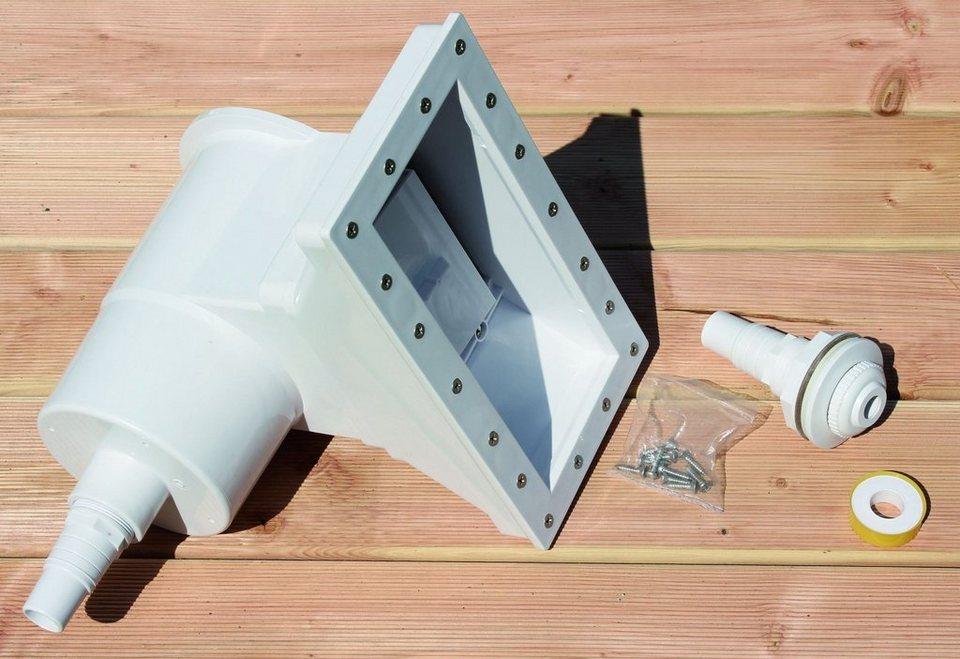 Breitmaulskimmer in weiß