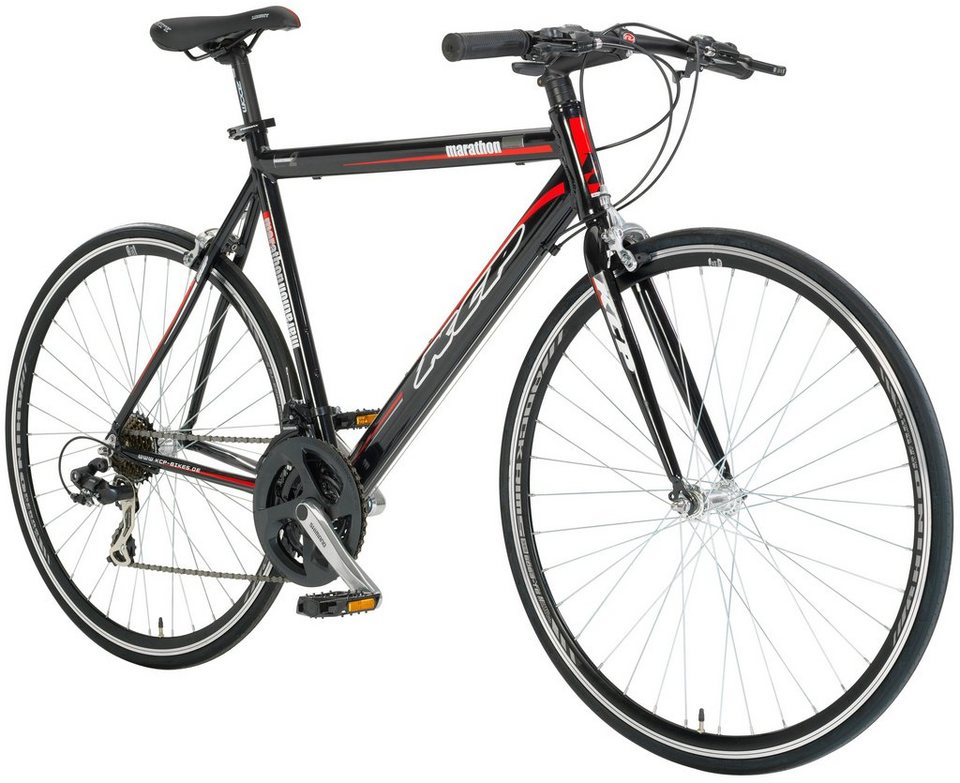 Fitnessbike »MARATHON schwarz, 71,12 cm (28 Zoll)« in schwarz