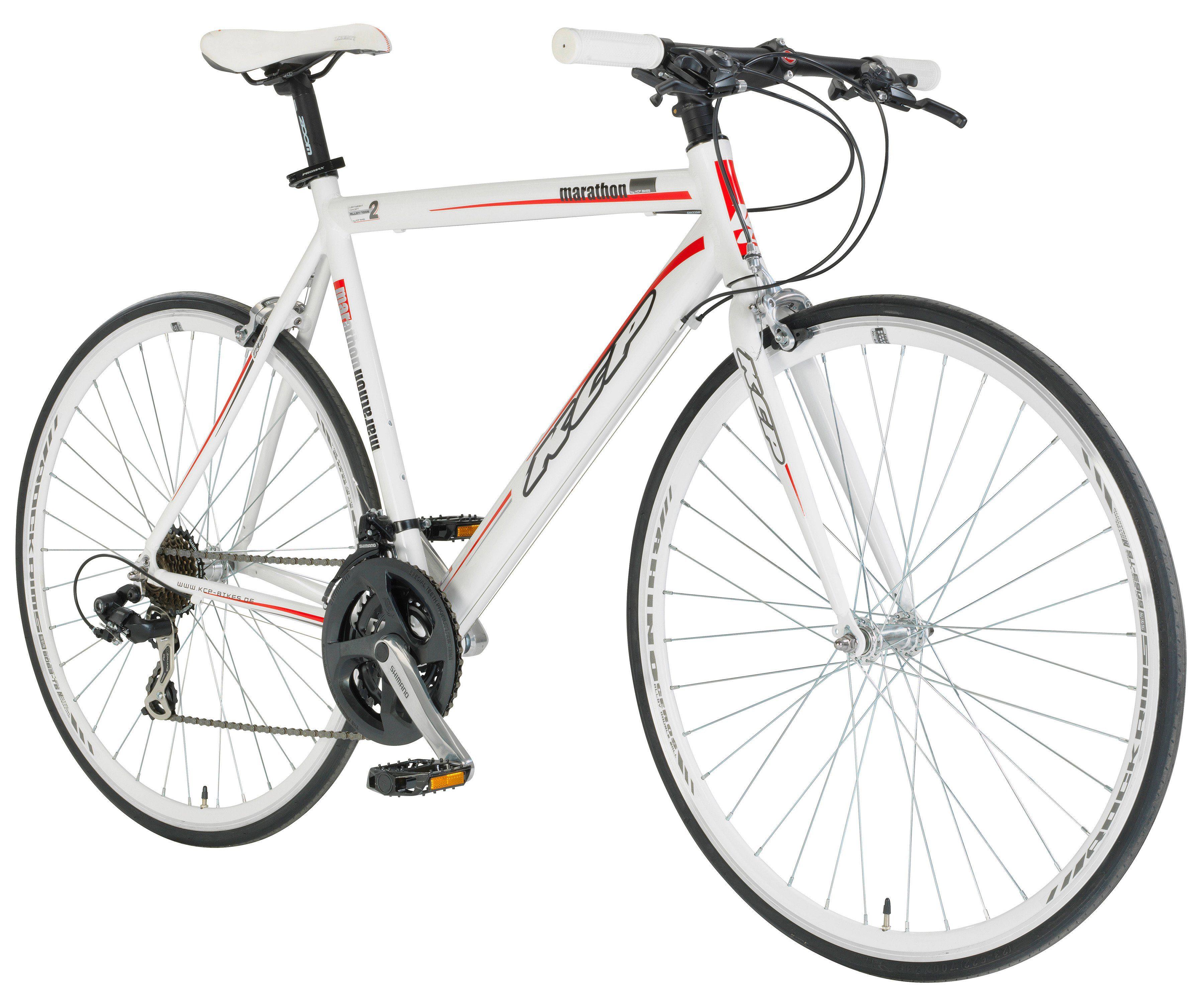 KCP Fitnessbike »MARATHON weiss, 71,12 cm (28 Zoll)«