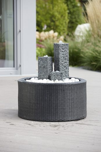 komplett set gartenbrunnen modena wicker kaufen otto. Black Bedroom Furniture Sets. Home Design Ideas