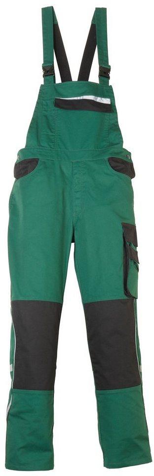 Latzhose »Pull« in grün/schwarz