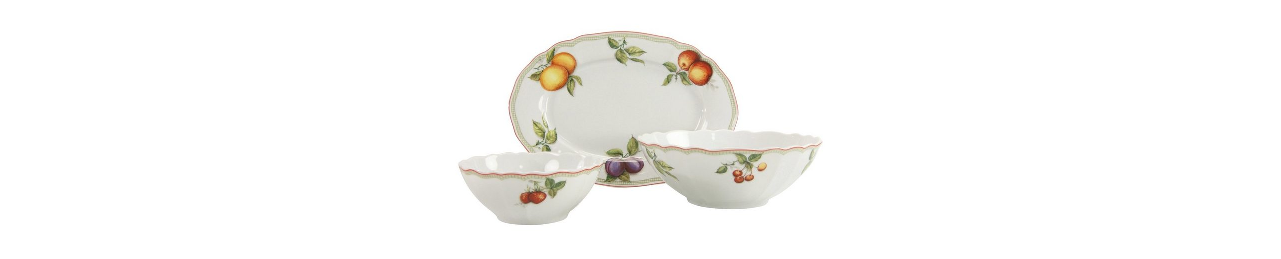 Servier-Set, 3-teilig, »Flora Orchard«