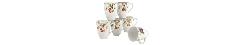 Kaffeebecher, 6er Set, »Flora Orchard«