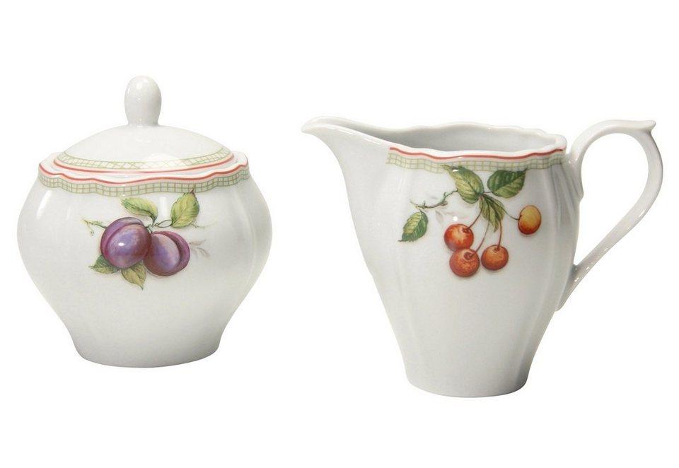 Milch/Zucker-Set, 2-teilig, »Flora Orchard« in weiß mit Obstdekor