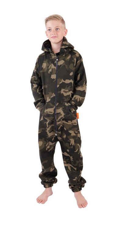 O'Poppy Jumpsuit »Onesie camouflage olive« (1-tlg) Zwergen Kapuze