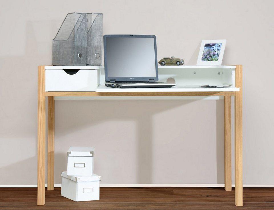 Schreibtisch »1190« in eiche-weiß
