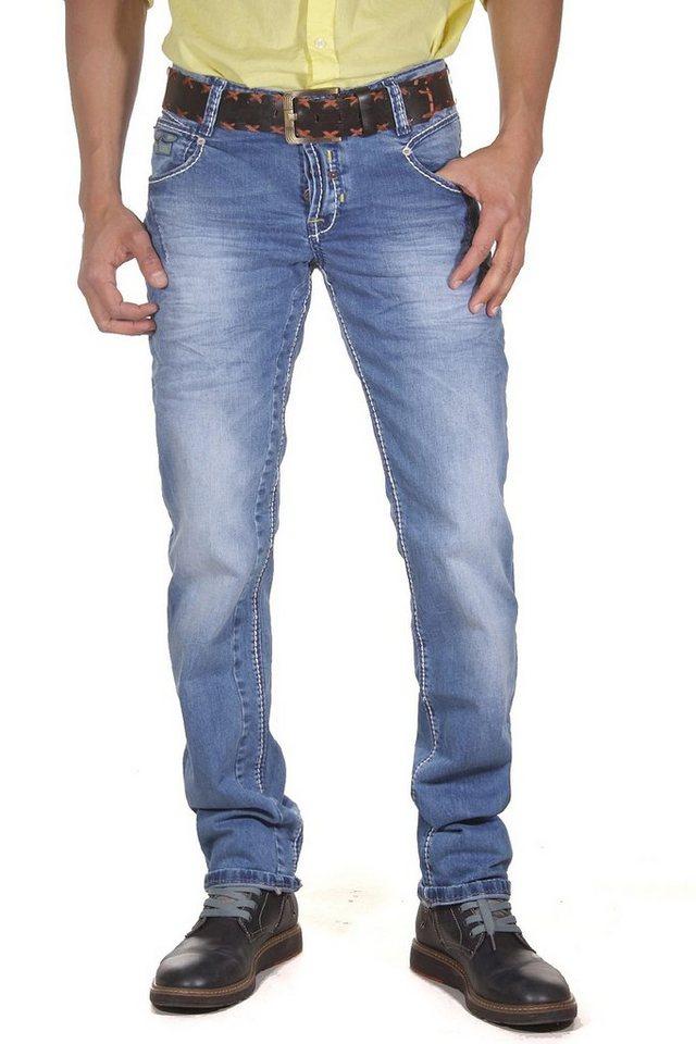 R-NEAL Stretchjeans slim fit in blau